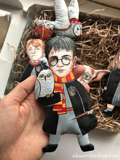 Гарри Поттер ручная работа игрушка на елку