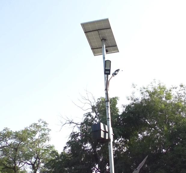 TEMPLE ILLUMINATED WITH SOLAR LIGHTS IN BHIKAMPUR BKT LUCKNOW