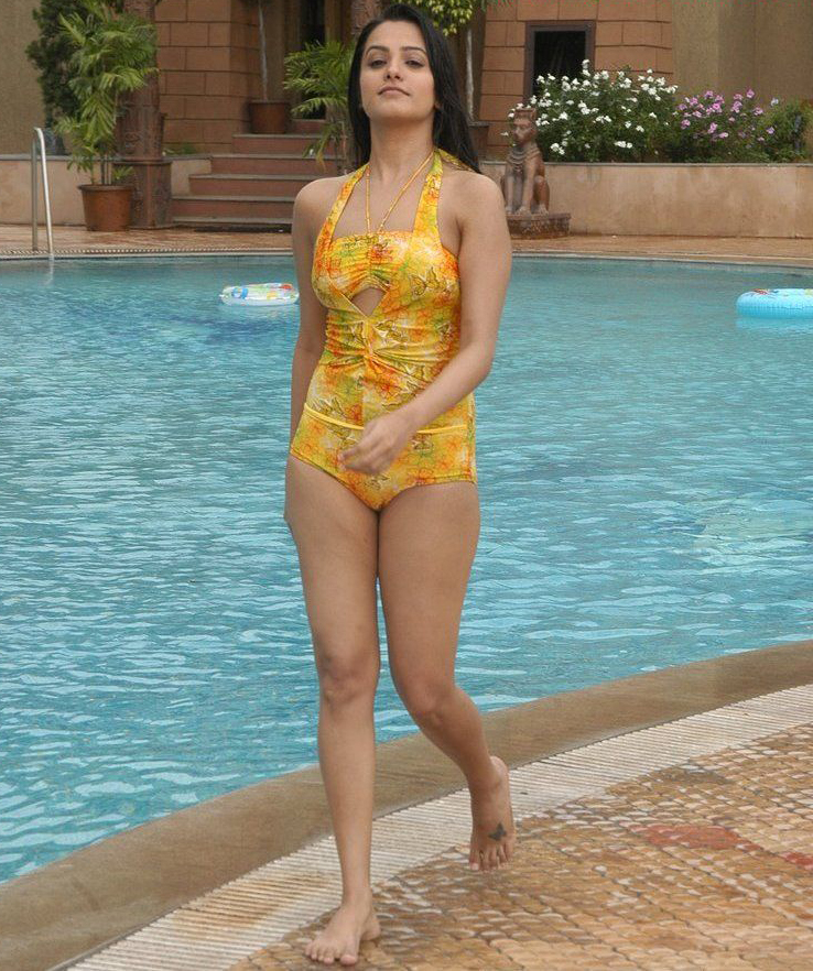 Anita Hot Photoshoot Stills In Yellow Swimsuit