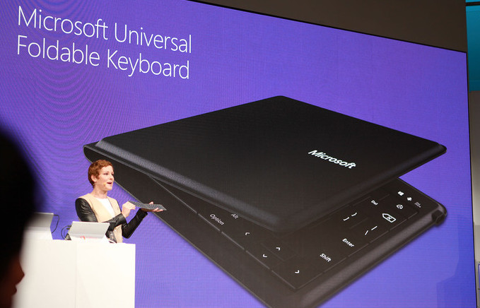 Microsoft unveils universal foldable Bluetooth keyboard which works with Windows, iOS and Android