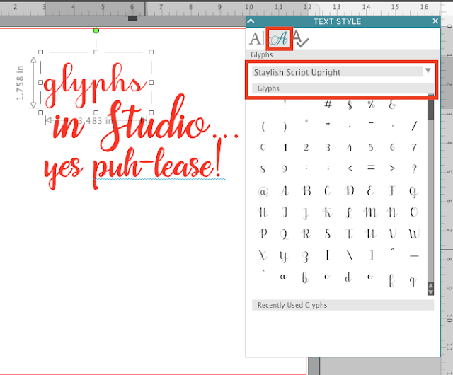 silhouette studio v4 features text organization font organization