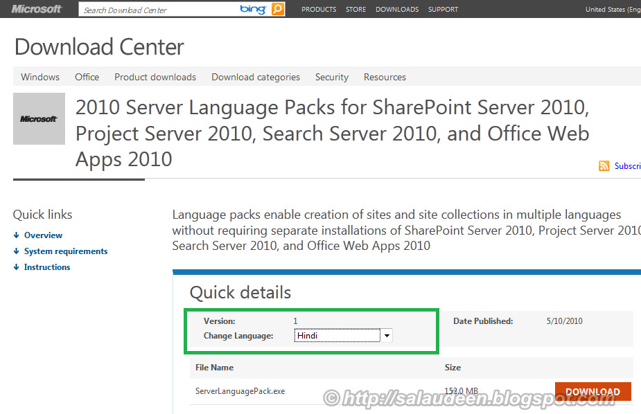 SharePoint 2010 Language Packs