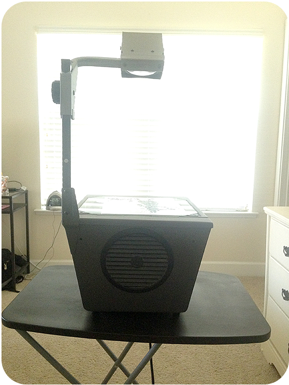 projector for window display