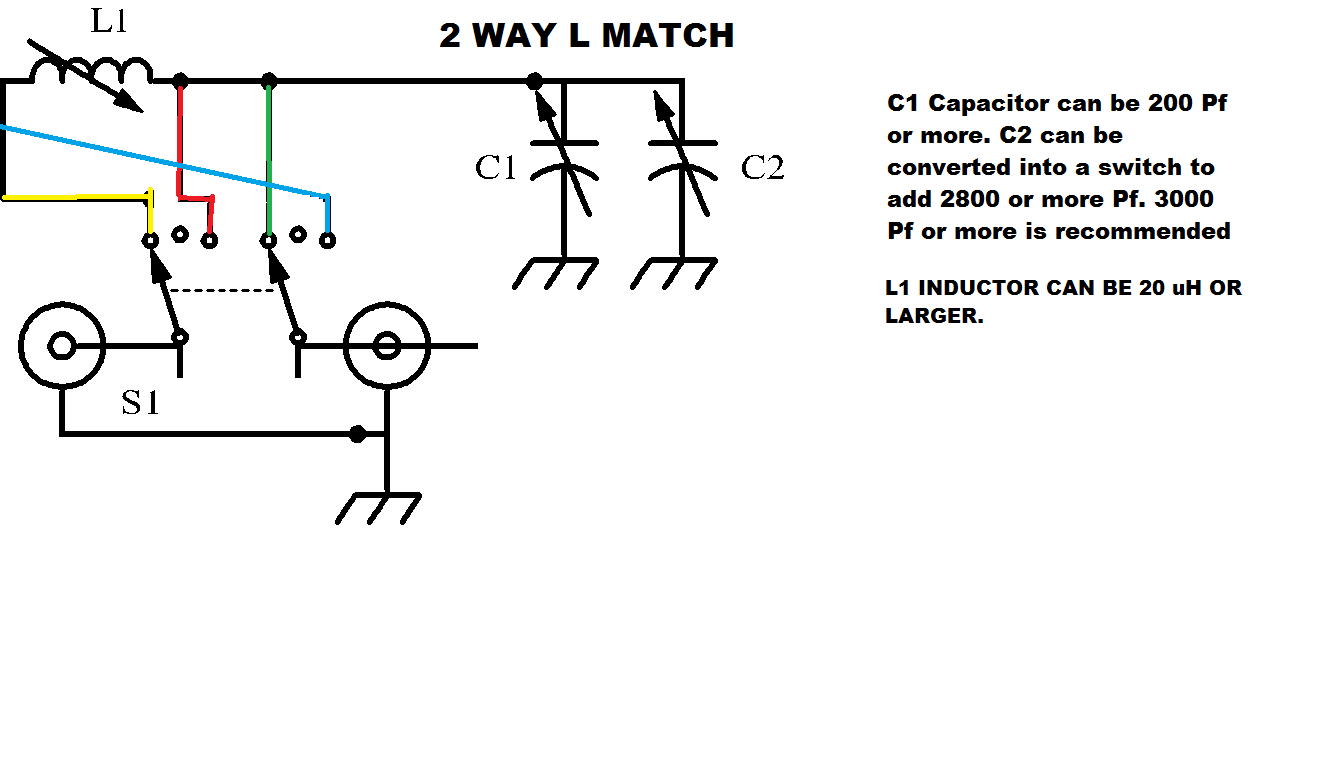 K7zgq Antennas P F O Skunkworks 2 Way L Match Antenna Tuner