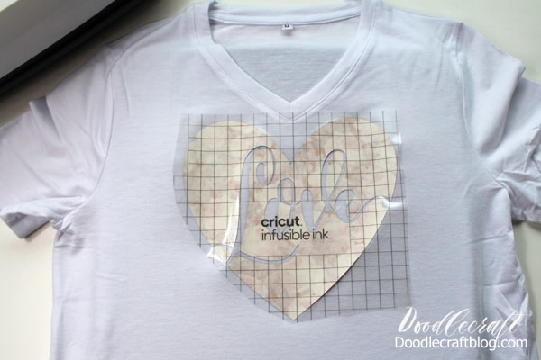 Place the Cricut Infusible Ink on the shirt and press with the EasyPress 2