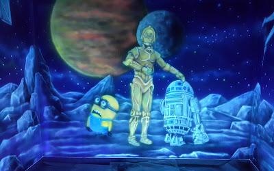 Malowidło świecące w ciemności, obraz UV świecący w ciemności, Gwiezdne wojny w ultrafiolecie
