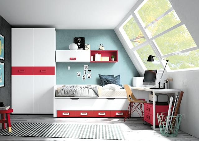 habitaciones juveniles con cama compacta valencia