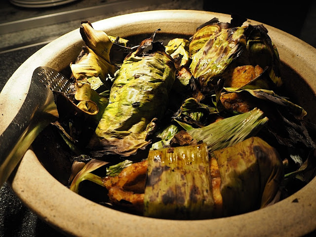 Assorted Grilled Fish Wrapped In Banana Leaf