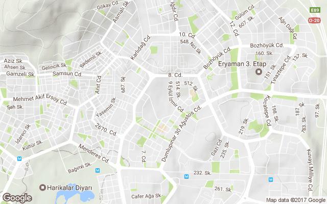 güzelkent mahallesi harita