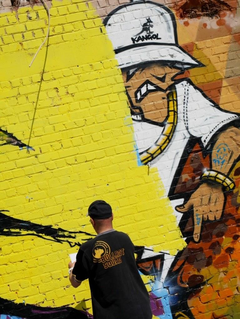 L'araignee au plafond - HMI BD - fresque murale