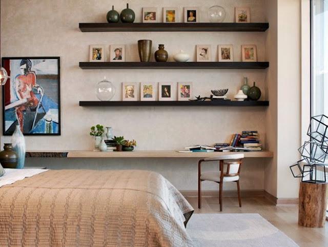bedroom wall shelving ideas