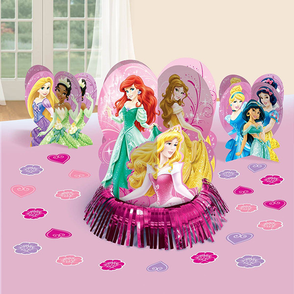 Disney Sparkle Princess Birthday Celebration Party Table Decorating Kit