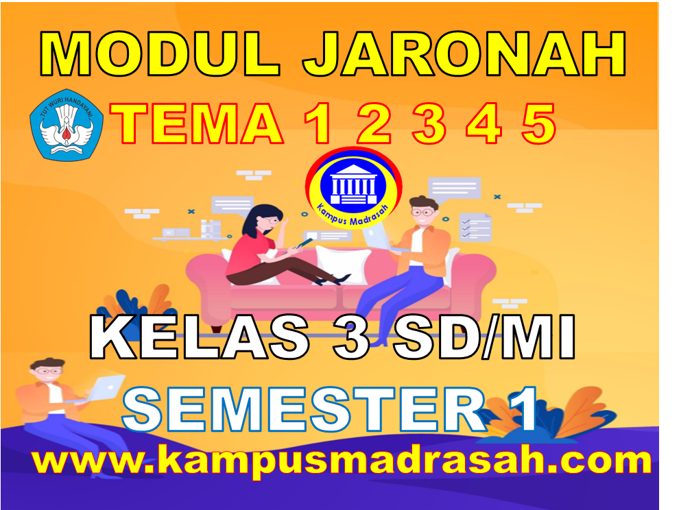 Modul BDR/PJJ Kelas 3 SD/MI Tema 1 2 3 4