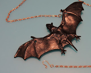 bat necklace tutorial