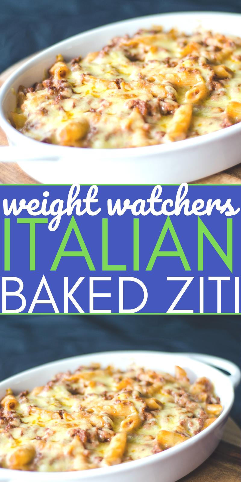 Weight Watchers WW Italian Baked Ziti Pasta 9 SmartPoints