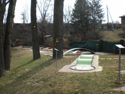 The Eternit Miniature Golf course at the Askoe Wien Wasserpark in Vienna, Austria