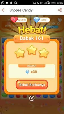 Cara Main Shopee Candy Level 161 Bintang 3