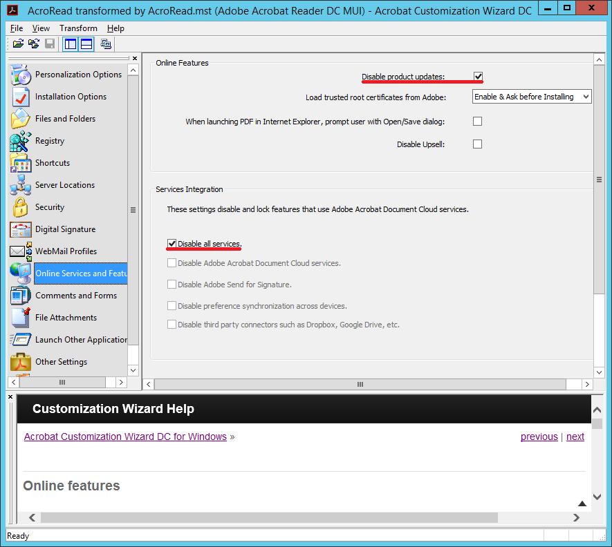 Записки на полях: Acrobat Reader DC на сервере терминалов (Windows