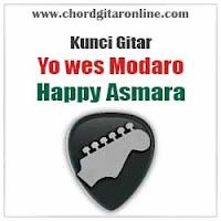 Chord Kunci Gitar Happy Asmara Yo Wes Modaro