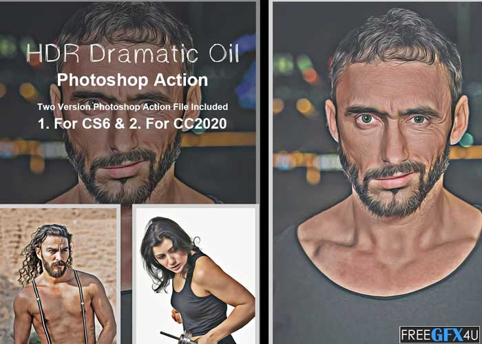 HDR Dramatic Oil Photoshop Action