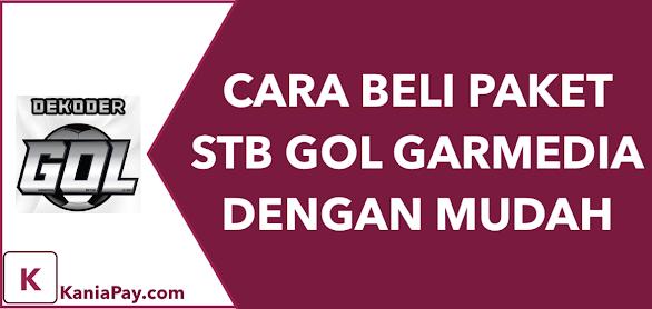 Cara Mudah Beli Paket STB GOL (GB07, PAS07, GOL07)