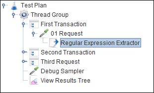JMeter - RegEx User Parameters