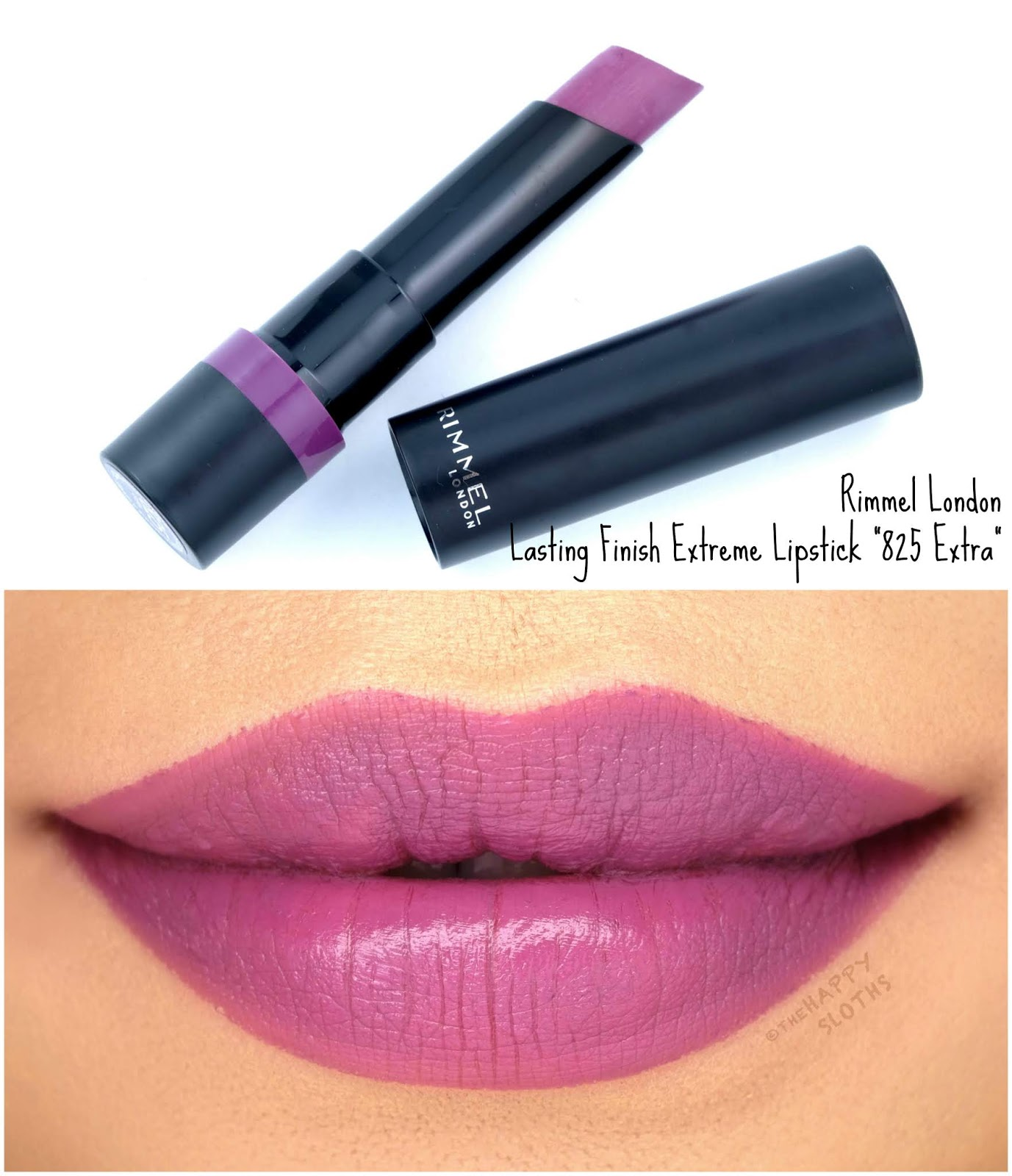 "Rimmel London | Lasting Finish Extreme Lipstick in ""825 Extra"": Review and Swatches"