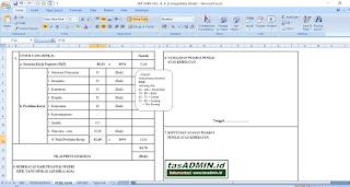 sheet penilian pk pns