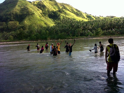 River trekking - one of the cool backpacking activities