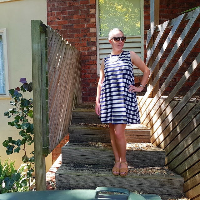 Kmart striped swing dress | Almost Posh