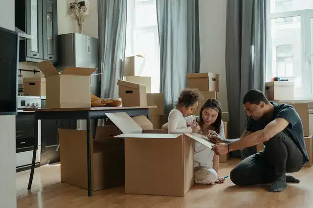 family after moving