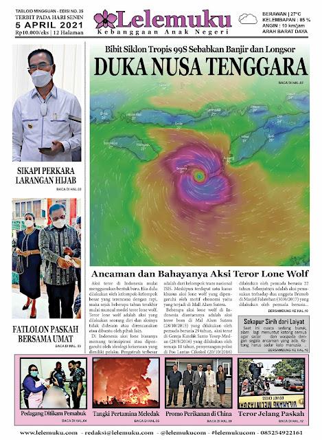 Tabloid Lelemuku #35 - Duka Nusa Tenggara - 05 April 2021