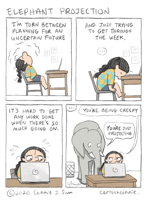 elephant comic, comics, illustration, comic strip, webcomic by connie sun, cartoonconnie