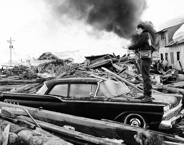 Mill Bay Road Good Friday Earthquake of 1964 in KodiaK, Alaska