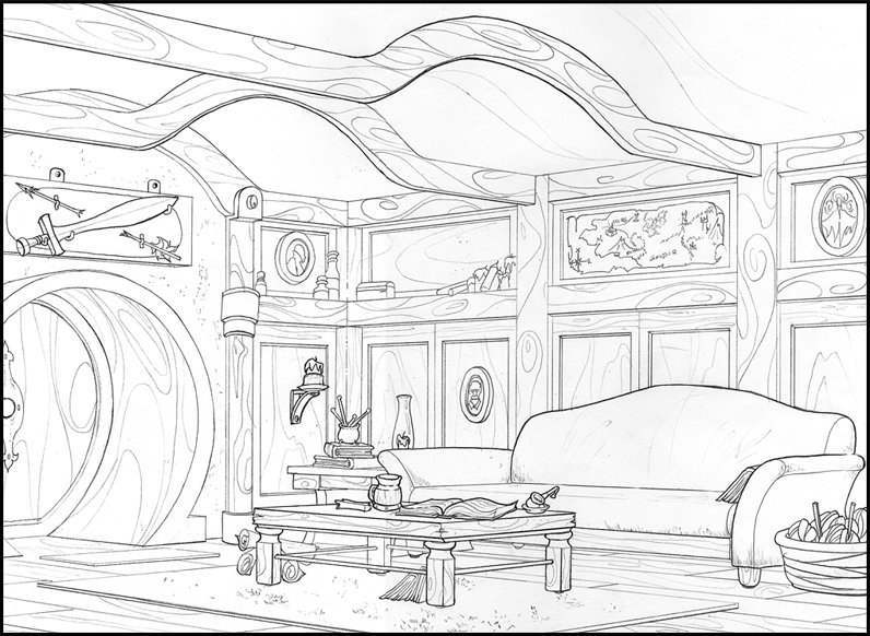 hobbit coloring pages   Bookish Ambition: MMGM: The Hobbit