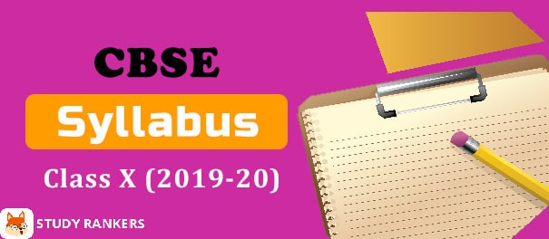 CBSE Syllabus for Class 10th 2019-20