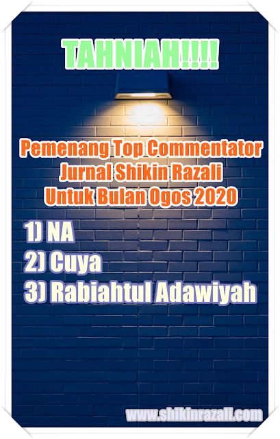 Top Commentator bulan Ogos 2020.. TAHNIAH..!