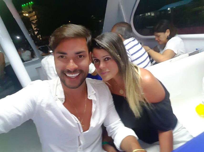 Brunno Camargo passa as férias ao lado da esposa na Colômbia. Foto: Arquivo pessoal