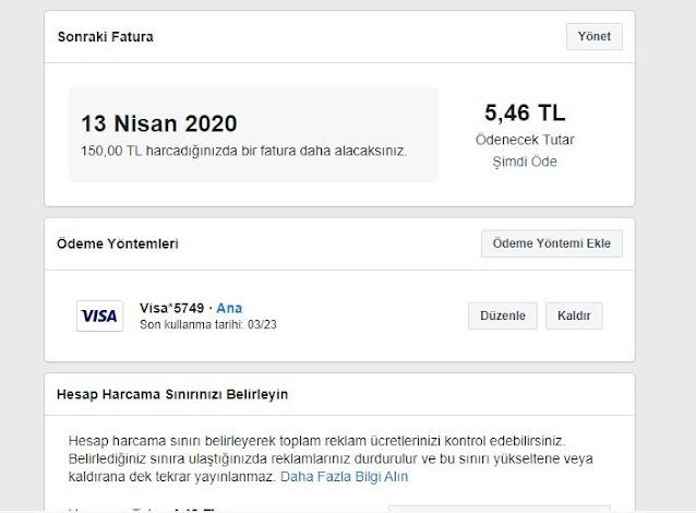 Facebook 150 TL Oluşturma Yöntemi