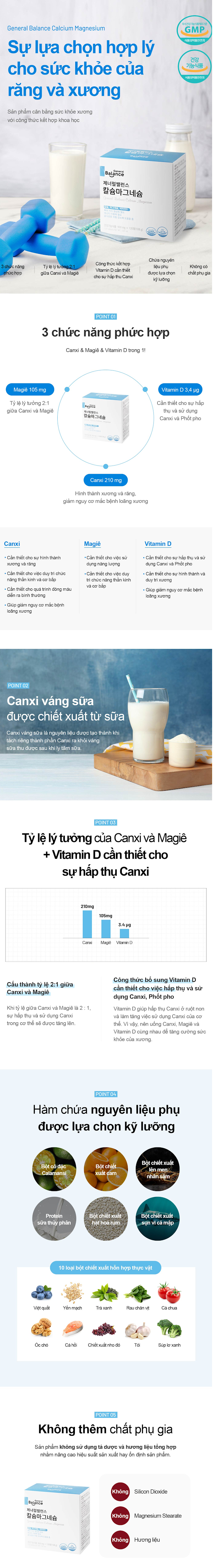 Thuc pham bao ve suc khoe: general balance calcium magnesium