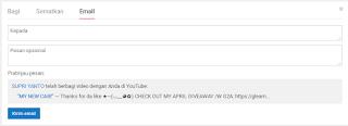bagikan video anda lewat email