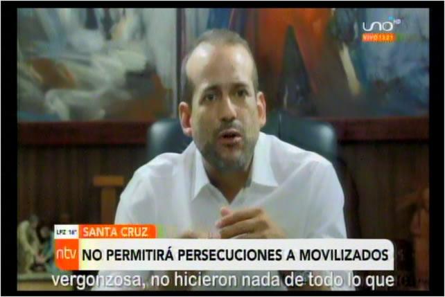 Camacho advierte a Luis Arce que no permitirá corrupción ni que su pueblo sea perseguido y procesado