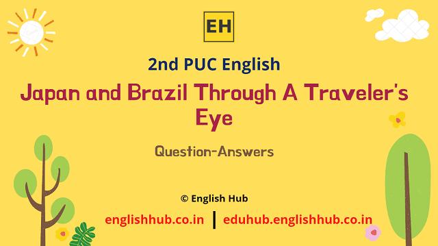 2nd PUC English: Japan and Brazil Through A Traveler's Eye