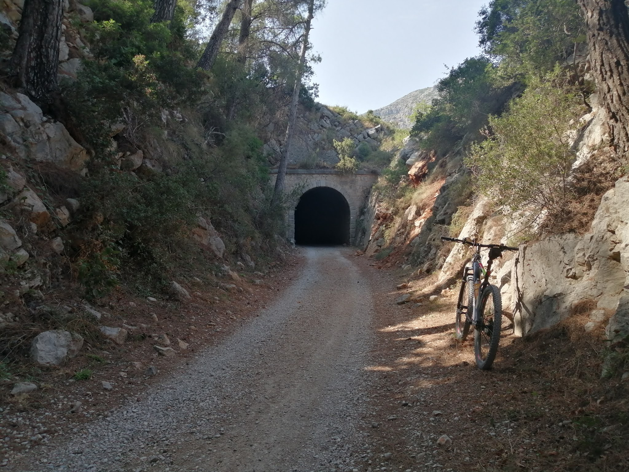 Entrance to railway tunnel on the Serpis Greenway