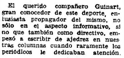 Nota sobre Ricard Guinart i Cavallé en El Mundo Deportivo en 1964