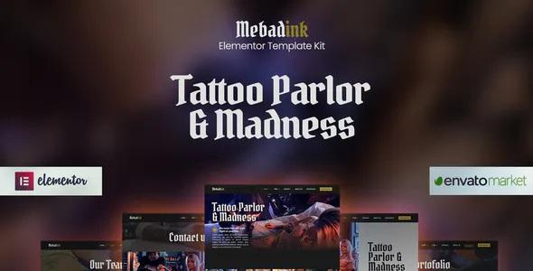 Best Tattoo and Piercing Studio Elementor Template Kit