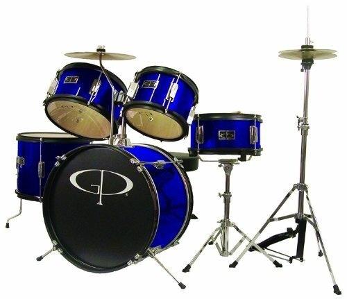 Gammon Percussion BMDJR50 5-Piece Drum Kit (Metallic Blue)