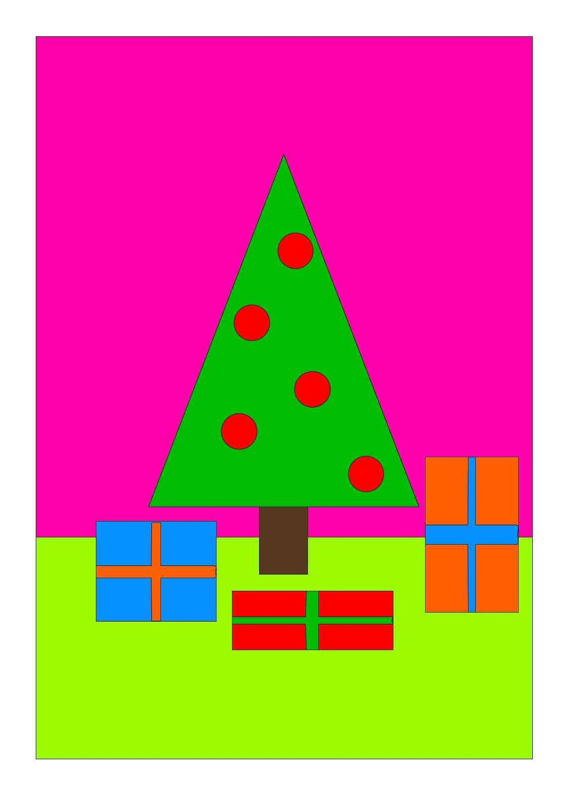 For Extra Fun Make A Set Of Four Drawings The Tree With Presents And Then Choose Different Colors Each Sure To Chose Three Analogous