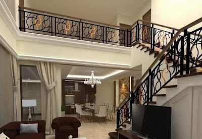 raling tangga untuk rumah semi klasik