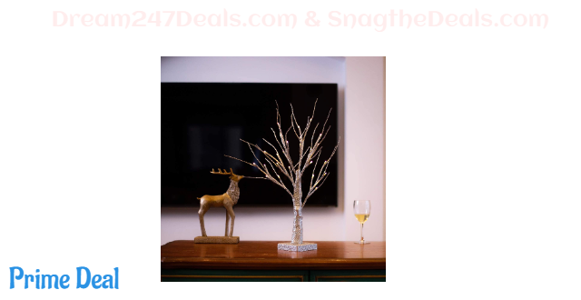 50% OFF  Bolylight LED Table Lamp Birch Money Tree Gift Holder Night Light Centerpieces Great Decoration for Home/Christmas/Party/Festival/Wedding, 1.5ft Silver